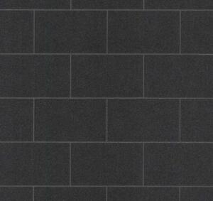 Black-Tile-Effect-Glitter-Wallpaper-Vinyl-Kitchen-Bathroom-Paste-The-Wall-P-S