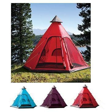 Perseverando Yellowstone Tenda Da Indiani Tipi Style 4 Uomo Cuccetta Persona Tenda Campeggio Festival Wigwam-mostra Il Titolo Originale Delizioso Nel Gusto