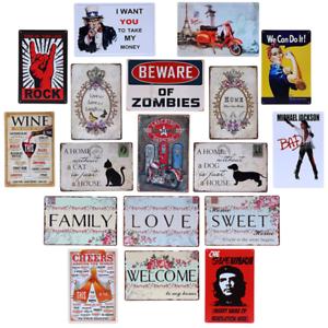 Metal-Sign-Retro-Tin-Vintage-Plaques-Bar-Club-Wall-Decorative-Antiques-Dog-20-30