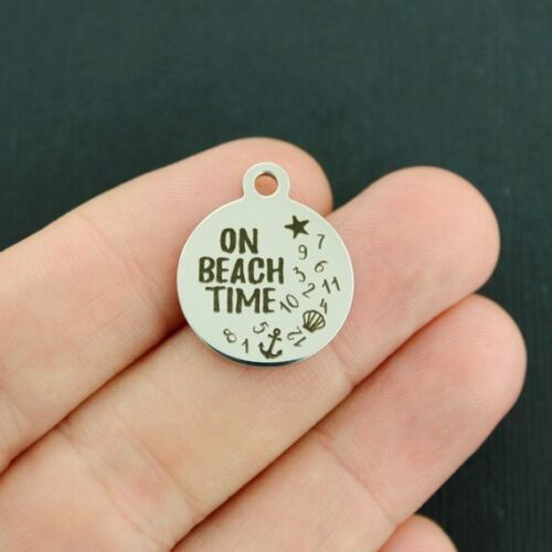 BFS4061 Quantity Options Beach Stainless Steel Charms On Beach Time