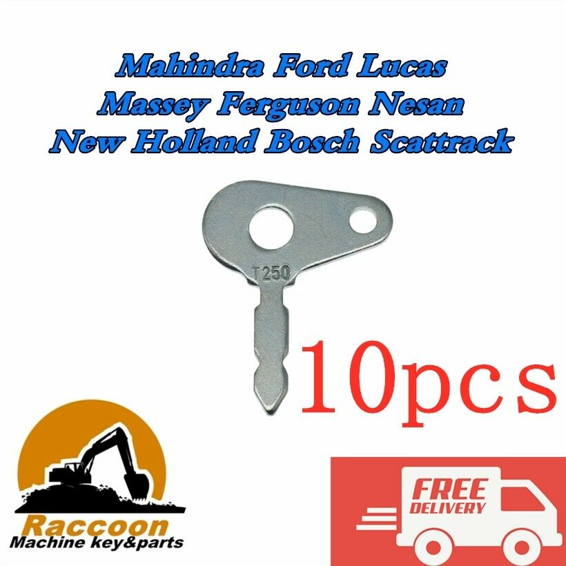 10pcs UNIVERSAL TRACTOR PLANT JCB IGNITION SWITCH SPARE IGNITION KEY LUCAS 35670