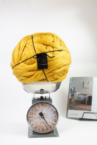 4 kg Moutarde Mammouth ® Géant Super Chunky Bras Tricot non filée Big Yarn