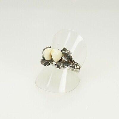 Antiker Echt Silber Grandeln Ring Charivari Jagdschmuck Herren Damen 20mm. Rar