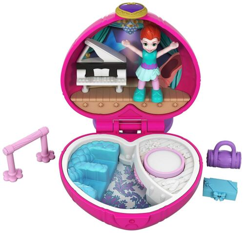 Polly Pocket Tiny Places Sashay Ballet Compact Playset