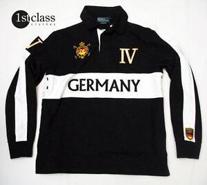 Ralph-Lauren-Sweatshirt-Size-L-Germany-Black-White-Jersey-Cotton-Custom-Fit