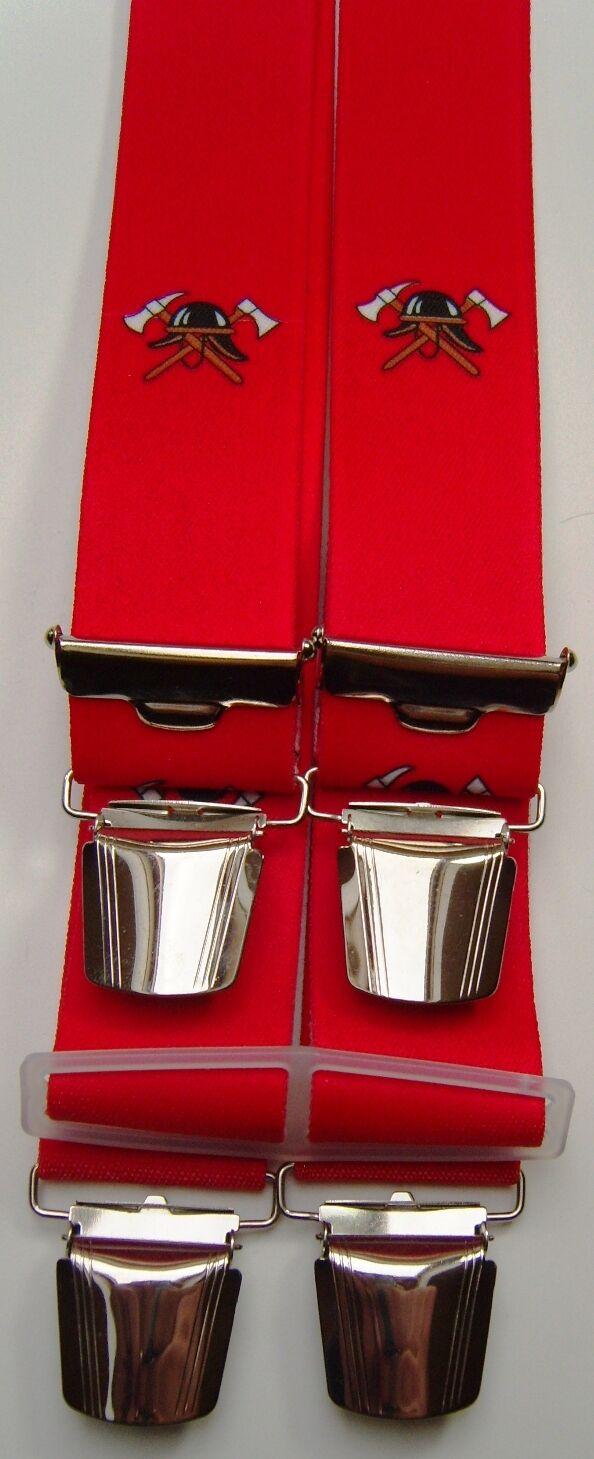 Motiv-Hosenträger, Feuerwehr, 100cm lang, 35mm breit, 4er Clip/extra stark,