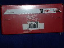 "100 pack 9"" 18 TPI Milwaukee Metal Sawzall Blades 48-01-7188 Double Duty"