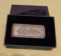 Genuine Indian Motorcycle Leather Money Clip