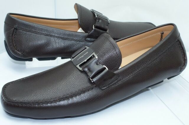 424d5a73a9e New Salvatore Ferragamo Sardegna Drivers Brown Shoes Size 11.5 Mens Loafers  Sale