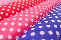 WHITE PEA SPOTS (POLKA DOTS) ON POLY COTTON FABRIC - 9 mm Spots