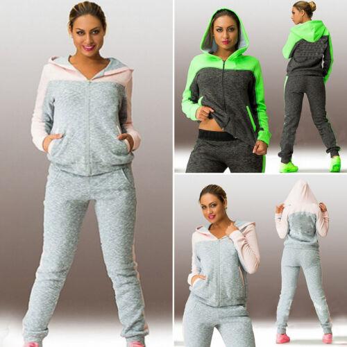 2Pcs Womens Tracksuit Hoodies Sweatshirt Pants Sets Sports Wear Athleisure Suits