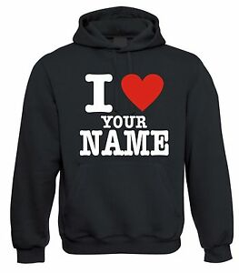 CUSTOM PRINTED PERSONALIZED YOUR TEXT I LOVE MY GIRLFRIEND NAME T-SHIRT FUNNY