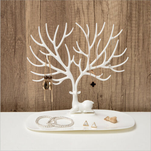 Deer Tree Jewelry Stand Display Organizer Necklace Earring Ring Holder Show Rack