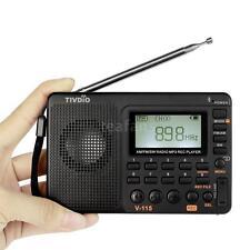 TIVDIO V-115 FM/AM/SW Mini Radio World Band Receiver MP3 Player Sleep Timer T0B4