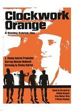 classic movie poster stanley kubrick's CLOCKWORK ORANGE 1971 violence 24X36