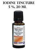 Iodio Tintura / Soluzione 5 % 20ml Antisettico per ferite tagli e abrasioni