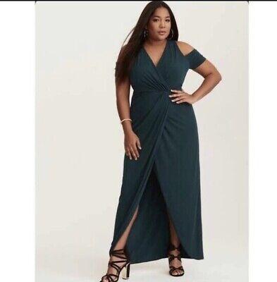 Emerald Green Cold Shoulder Torrid Dress Size 3 (20-22) Plus Size BNWT |  eBay