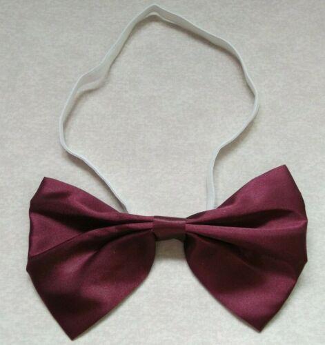 Bow Tie Mens NEW Bowtie Adjustable OVERSIZED Dickie BURGUNDY