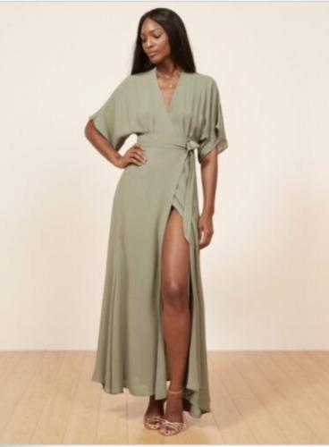 Reformation Winslow Dress, Size XS Seafoam