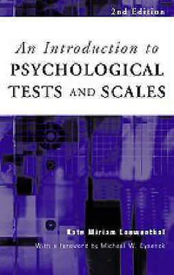 1 of 1 - Introduction to Psychological Tests and Scales (Textbook)-ExLibrary