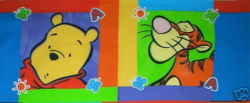 Disney ~ WINNIE the POOH /& TIGGER ~ 2 Pillow Panels 100/% Cotton Fabric