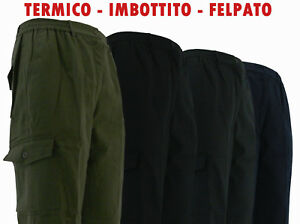 Per X Foderato Blu Imbottito Lavoro Nero Verde Pantalone Tasconi Grigio Inverno OXw5x6nIq