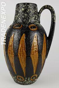 Vintage-1960-70s-SCHEURICH-KERAMIK-279-38-Vase-West-German-Pottery-Fat-Lava-Era