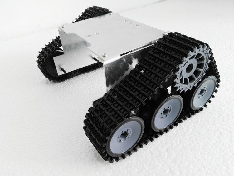 Nuevo Tanque de aleación de aluminio Caterpillar SUV Wall-e Robot Chasis para armar uno mismo