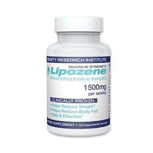 Lipozene MEGA Bottle - 120 Capsules - Largest Size Available - Appetite Suppr...