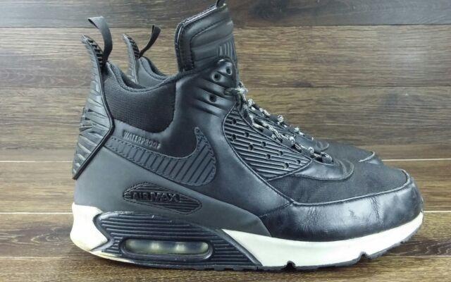 Nike Air Max 90 Sneakerboot Black Grey WaterProof Mens Shoes Sz 10.5 684714 001