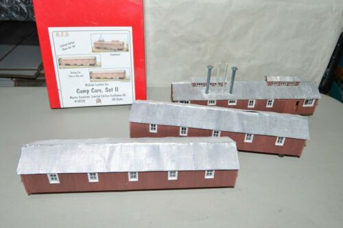 HO scale B.T.S. McCabe Lumber Co CAMP CARS SET 2 logging RR wwod KIT