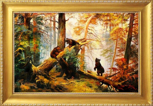 Iwan Iwanowicz Szyszkin-83x63cm Landschaft-Ölgemälde Handgemalt Leinwand Rahmen