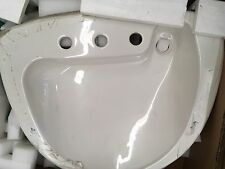 "KOHLER Invitation Drop-in bathroom sink with 8""  holes WHITE K-2098"