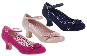 Ruby Shoo Cordelia Low Heel Court Shoes /& Matching Mali Bag UK 3-9 Fuchsia Navy