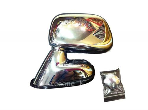 CHROME SIDE WING MIRROR VIEW FOR TOYOTA HILUX PICKUP TIGER MK4 2003-2004 RHD
