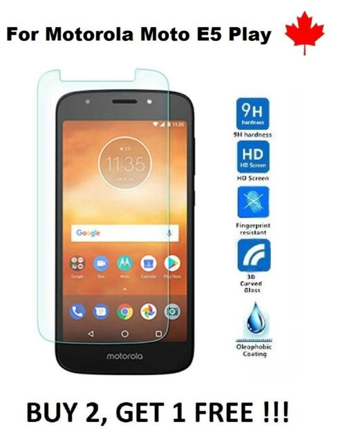 For Motorola Moto E5 Play - Tempered Glass 9H Hard Screen Protector Cover