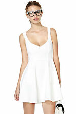 Nasty Gal Drawing a Blank Dress small ivory new with tags