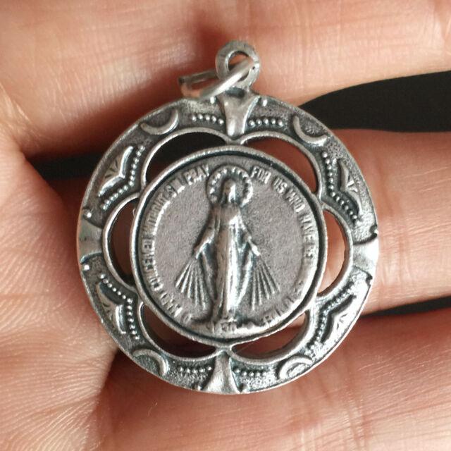 Lovely silver catholic mary magdalene virgin medal rosary pendant lovely silver catholic mary magdalene virgin medal rosary pendant italy mozeypictures Choice Image