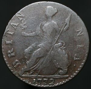 1772-George-III-Half-Penny-Copper-Coins-KM-Coins