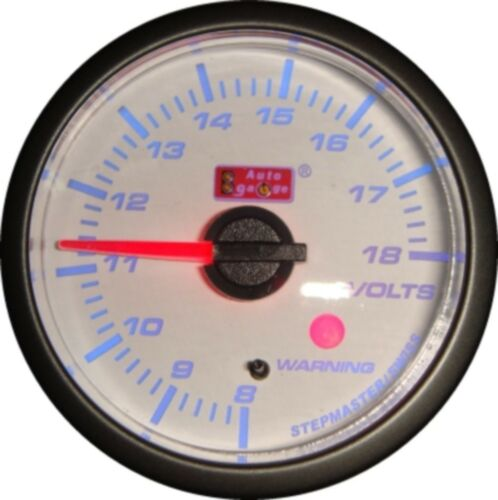 NEW Blue Led 52mm Stepper Motor Volt Gauge Voltmeter