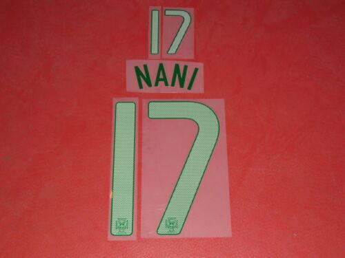 NAMESET FLOCAGE OFFICIEL NANI PORTUGAL HOME 2012-2014
