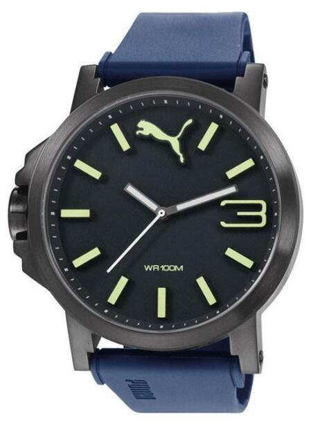 fb4f11a99 PUMA reloj Ultrasize pu103461005 Análogo plástico azul