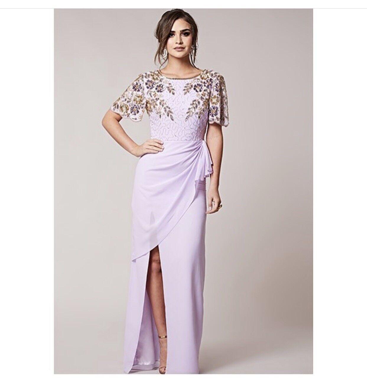 Dress 6 BNWT Virgos Lounge Lounge Lounge Embellished Midi Wedding Prom Occassion ASOS 01dd32