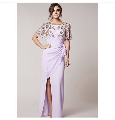£ impreziosito Prom Wedding 6 Midi Dress Virgos Bnwt Occasion Lounge 160 xPnTBI
