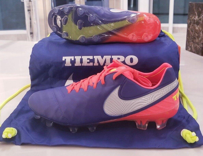 Nike tiempo legende vi fg stollenschuhe tiefe königliche blau - orange chrome 819177-409