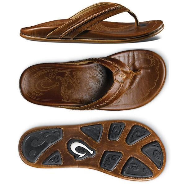 Olukai Mea Ola Ginger Ginger Comfort Flip Flop Men's sizes 8-15 NIB