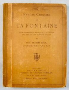 Fables-Choisies-De-La-Fontaine-Antique-Book-1892-Berthe-Beck-William-Jenkins-O