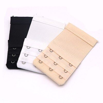 Ladies Bra Extension Strap Underwear Strapless 3 Colours Bra Extender 2 Hooks