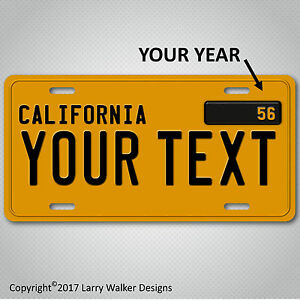 California-Custom-Personalized-1950s-YOUR-TEXT-Aluminum-License-Plate-Tag-New