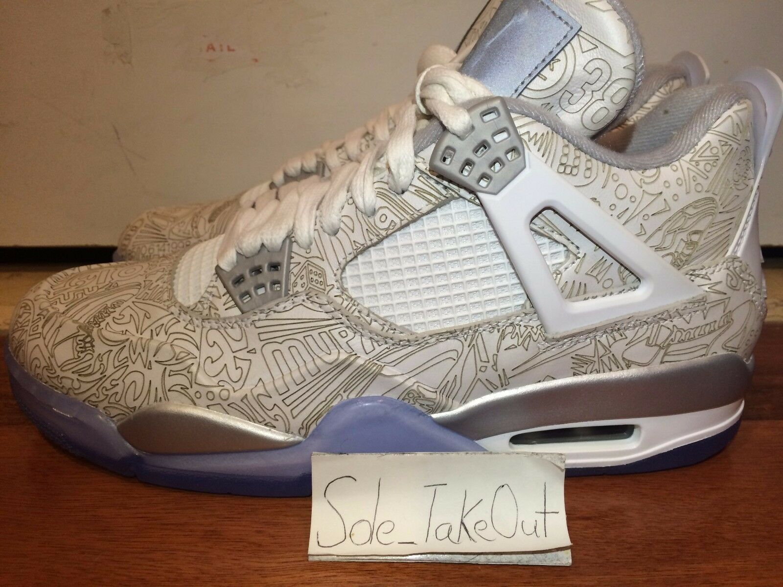 JORDAN 4 RETRO LASER  AIR 30TH ANNIVERSARY  705333-105 SZ 8-14 hombres